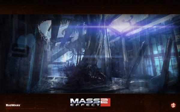 Обои Mass Effect 2: Заброшенный центр биотиков