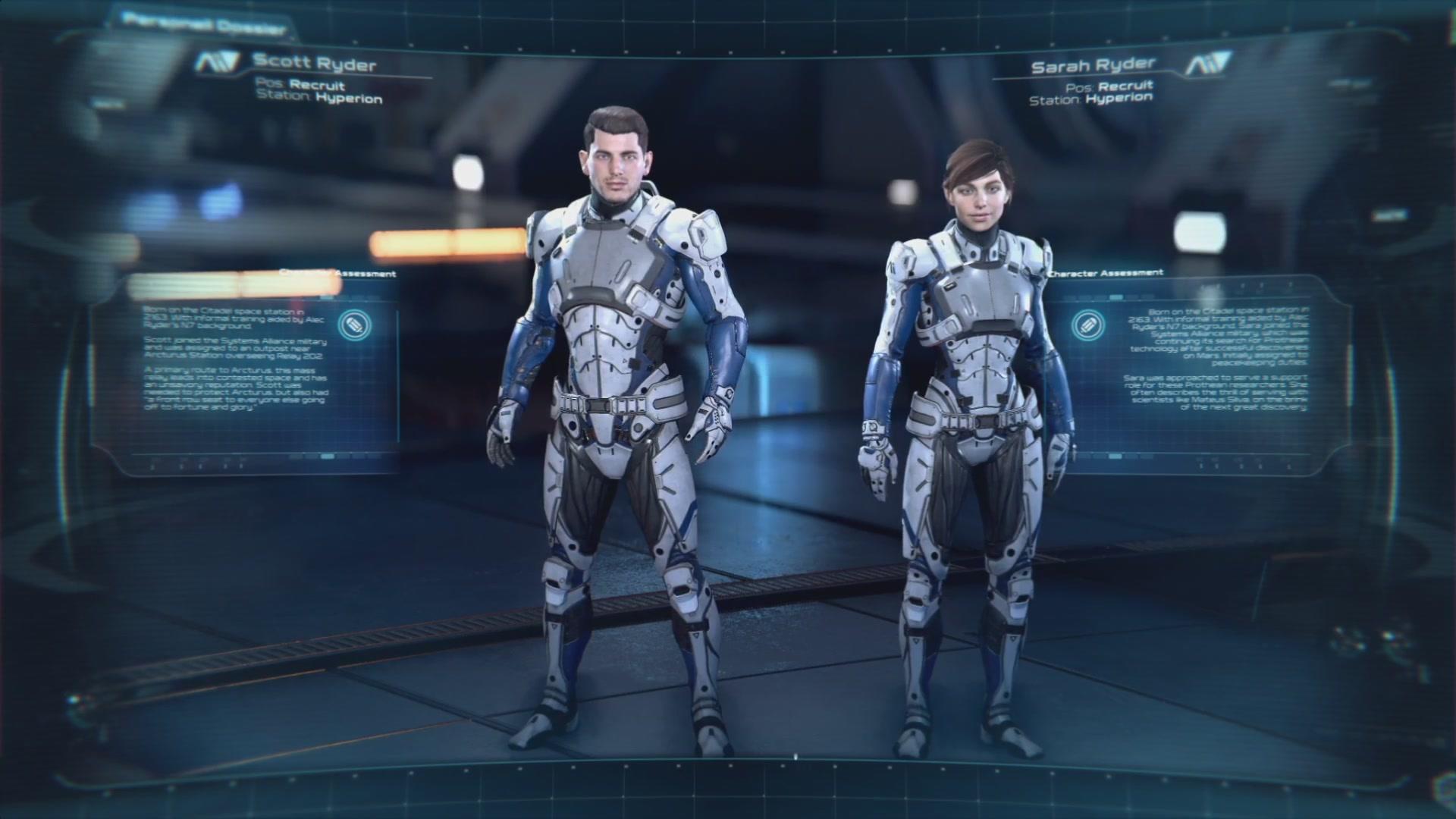 Скотт и Сара Райдеры в инструктаже Andromeda Initiative