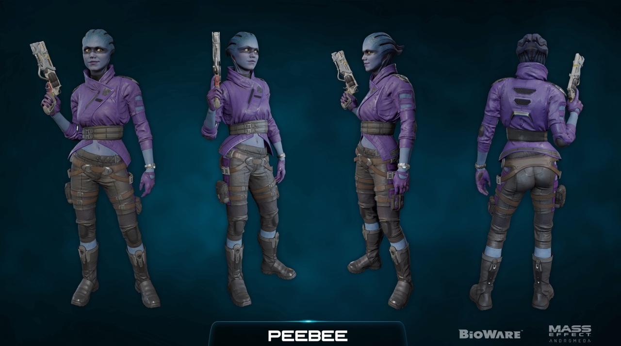 Кора Харпер, Character Kit - Концепт-арт Mass Effect