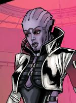 Aria T'Loak as seen in Mass Effect: Redemption.
