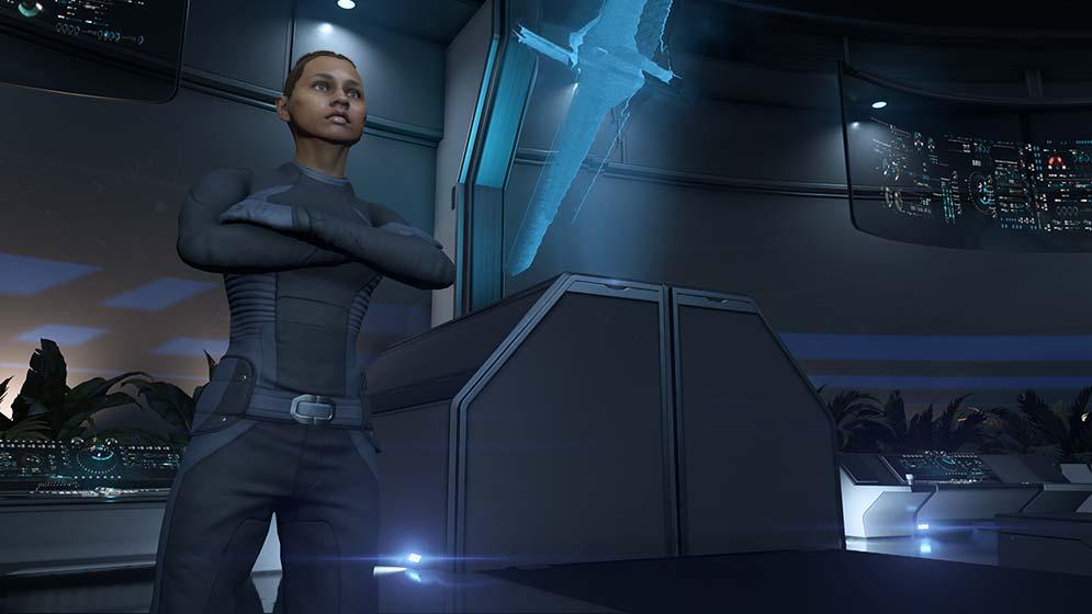 Слоан Келли в инструктаже Andromeda Initiative