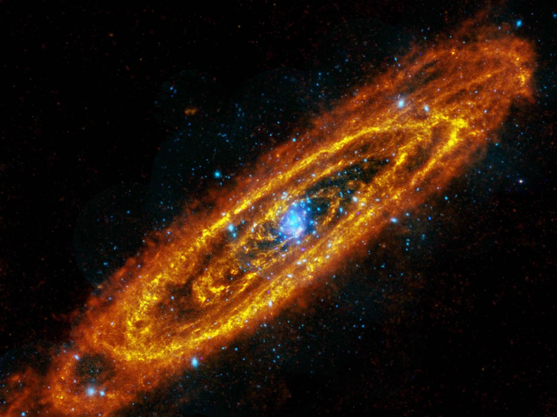 Галактика Андромеда горячие и холодные потоки