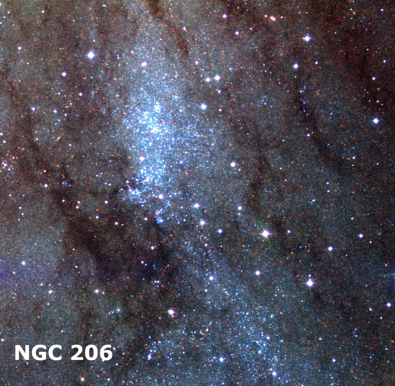 Скопление NGC 206 в Андромеде